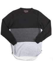 Boys - FRENCH TERRY COLOR BLOCK PULLOVER W/ ZIPPERS (8-20)