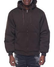 Men - Basic Nylon - Lined Zip - Up Fleece Hoodie