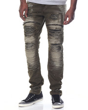 Jeans & Pants - Rip - Off Faux - Leather - Backed Twill Moto Pants