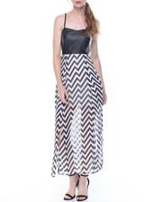 Dresses - Pleated Bottom Maxi Dress