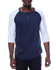 Basic Essentials - 3/4 Raglan Sleeve Henley T-Shirt