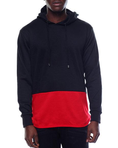 Basic Essentials - Side - Zip Color Block Pullover Hoodie