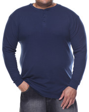 Basic Essentials - Three - Button Thermal Henley (B&T)-2077048