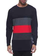 Men - Color Block / Striped Scallop - Bottom L/S Tee-2077394