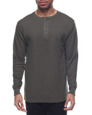 Henleys - Three-Button Thermal Henley-2077366