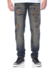 Men - Rip - And - Repair Fashion Denim Jeans