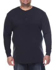 Basic Essentials - Two - Button Thermal Henley (B&T)-2077848