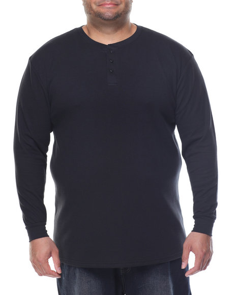 Basic Essentials - Two - Button Thermal Henley (B&T)