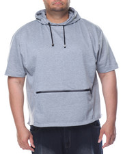 Men - Fishtail Bottom S/S Pullover Hoodie (B&T)-2078053