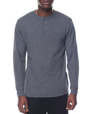 Basic Essentials - Three-Button Thermal Henley-2078512