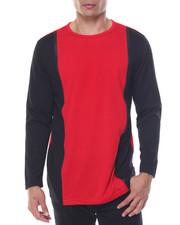 Men - Contrast Color Crewneck Shirt