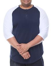 Basic Essentials - 3/4 Raglan Sleeve Henley T-Shirt (B&T)