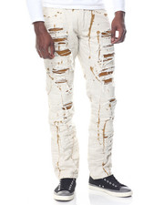Jeans - Distress Paint Splatter Denim Jean