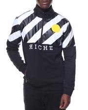 Outerwear - Diagonal Striped 1/2 - Zip Pullover