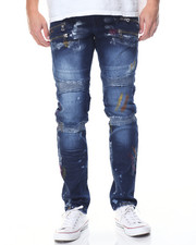Jeans - Painted Moto - Style Denim Jeans