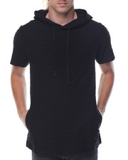 T-Shirts - Solid Jaquard Hoodie