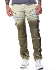 Jeans & Pants - Ombre Cargo Moto Jean