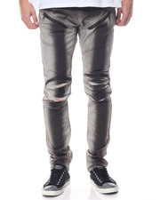 Men - Ermine Moto Spray Paint Jean