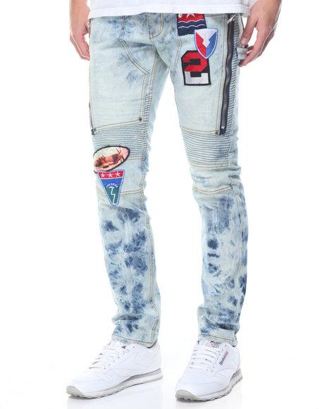 Heritage America - Patch Distressed Wash Denim Jeans