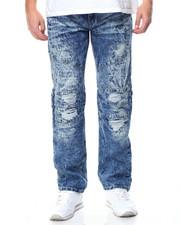 Jeans & Pants - Rip & Repair Ice Wash Moto Jean