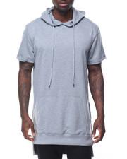 Men - S/S Elongated Hoodie w Side Zipper
