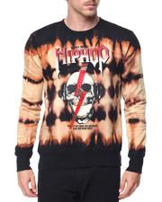 Sweatshirts & Sweaters - Hip Hop Skull Bleached Crewneck Sweatshirt