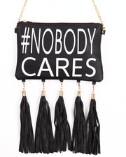 DRJ Accessories Shoppe - #Nobody Cares Hanging Tossles Crossbody Bag