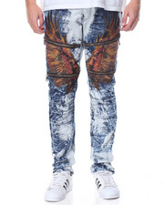 Jeans & Pants - Hawk - Applique Washed Denim Jeans