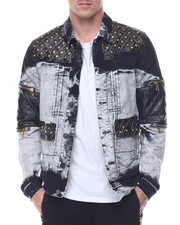 Denim Jackets - Quilted - Shoulder Denim Jacket