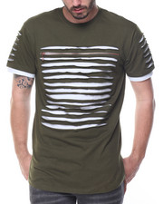 Shirts - Razor Slashed  Tee w Zip Detail