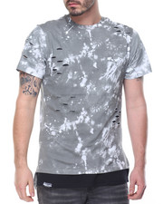 Shirts - Tie Dyed Paint Splatter Scallop Tee