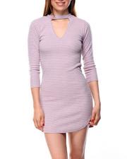 Fashion Lab - Kennedy Dress W/V-Mock Neck