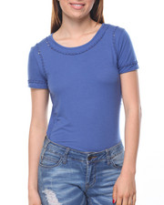 Tops - Short Sleeve Tee W/Open Detail