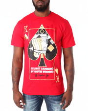Men - King of Spade Foil Tee