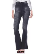 Skinny - Sandblasted Hi Waist Flared Leg Skinny Jean