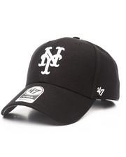 '47 - New York Mets Black & White MVP 47 Strapback Cap