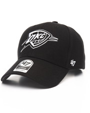 Men - Oklahoma City Thunder Black & White MVP 47 Strapback Cap