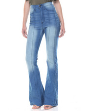 Jeans - Princess Seams Hi Waisted Flared Jean