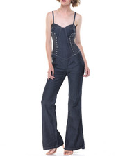 Jumpsuits - Studd Detail Tube Jumpsuit