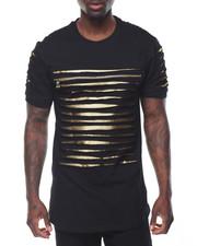 Shirts - Razor Slashed Tee w Zipper Detail