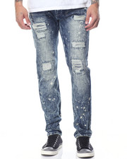 Men - Splattered Rip - And - Repair Denim Jeans