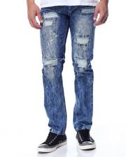Jeans & Pants - Slim - Straight Rip - And- Repair Denim Jeans