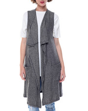 Fashion Lab - Open Duster Sweater Vest