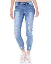 Fashion Lab - Sandblasted Destructed Skinny Jean