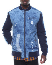 Denim Jackets - Denim Bomber Jacket