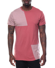 Men - Stripe - Panel Color - Block S/S Tee