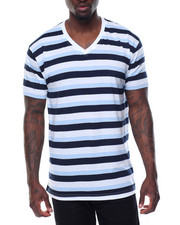 Men - Yarn - Dyed Striped V - Neck S/S Tee