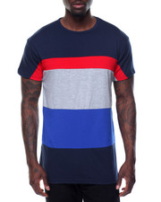 Men - Tri - Stripe Color - Block S/S Tee