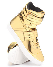 Radii Footwear - Cylinder Strap 24K Gold Bar High Top Sneaker