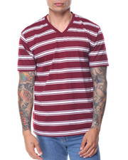 Shirts - Basic 2 - Tone Stripe V - Neck S/S Tee